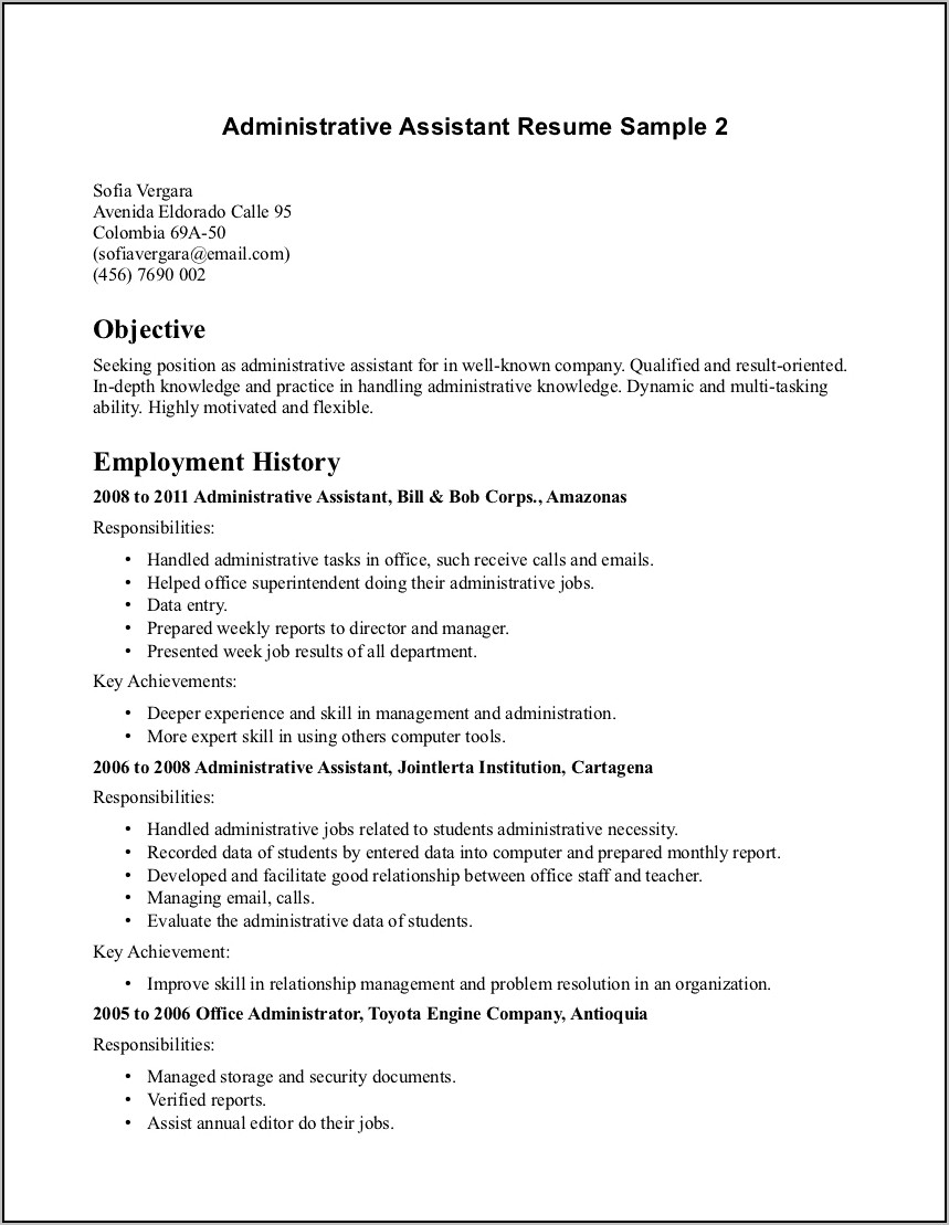 Best Executive Assistant Resume Samples