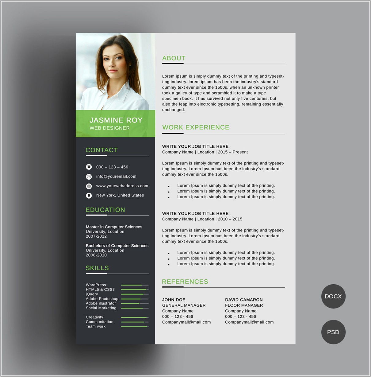 Cv Template Free Download For Mac