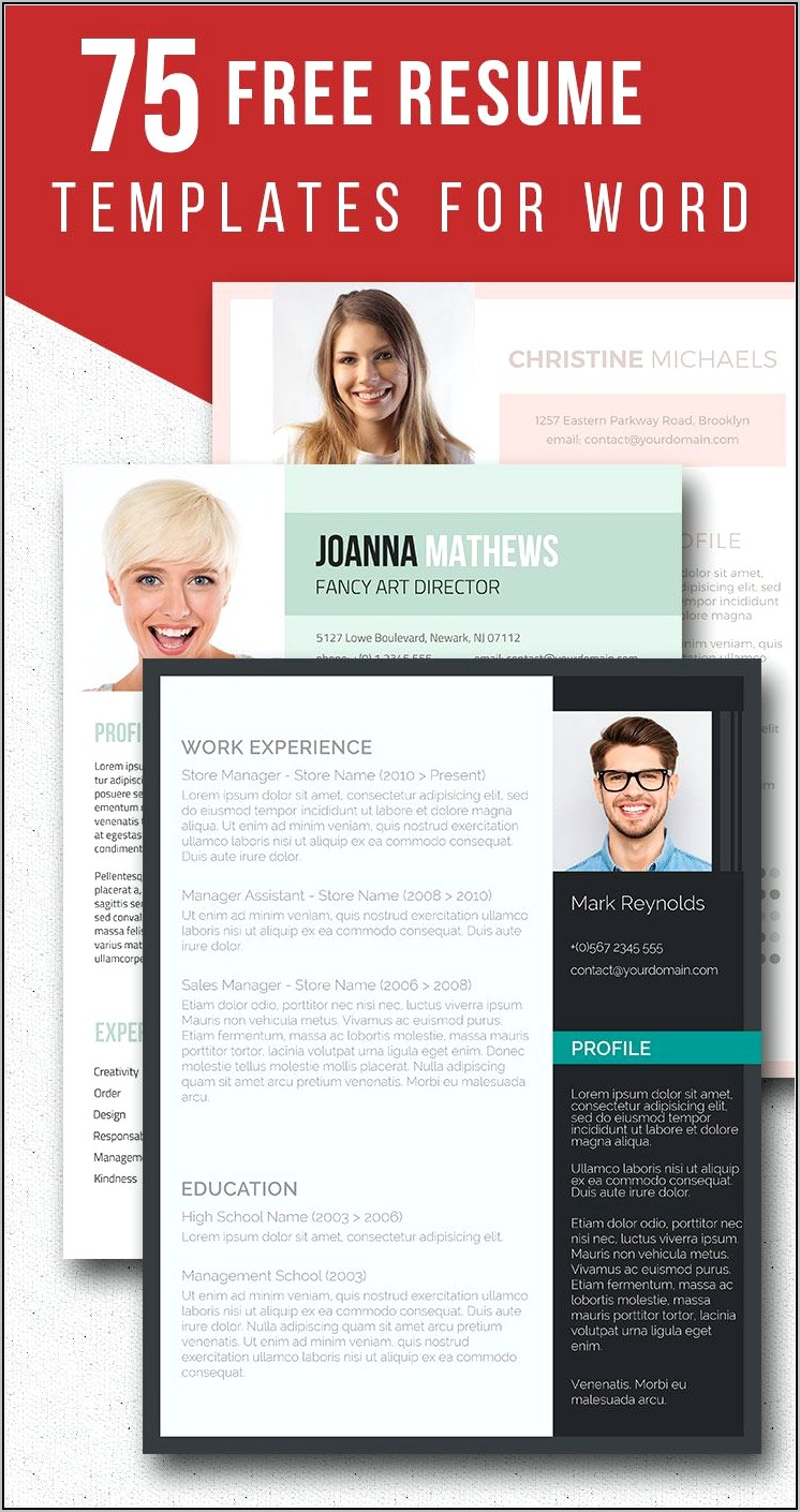 Downloadable Resume Templates For Word Free