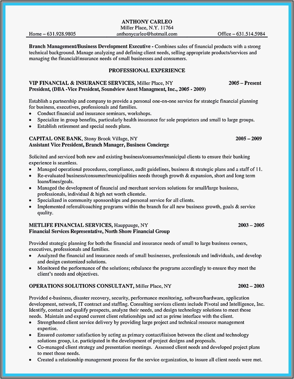 Example Resume For Assistant Property Manager