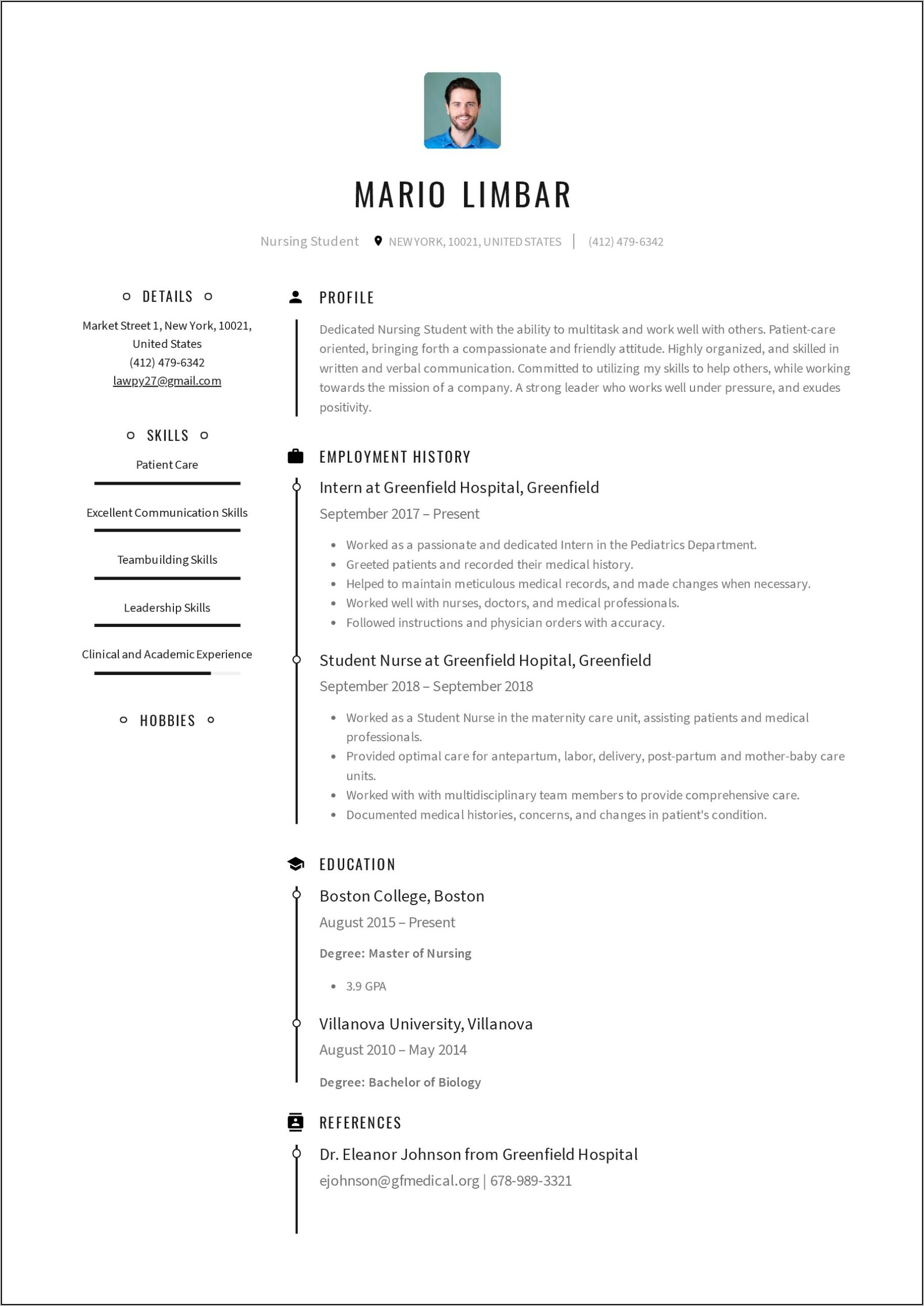 Examples Of Nursing Resumes And Cover Letters