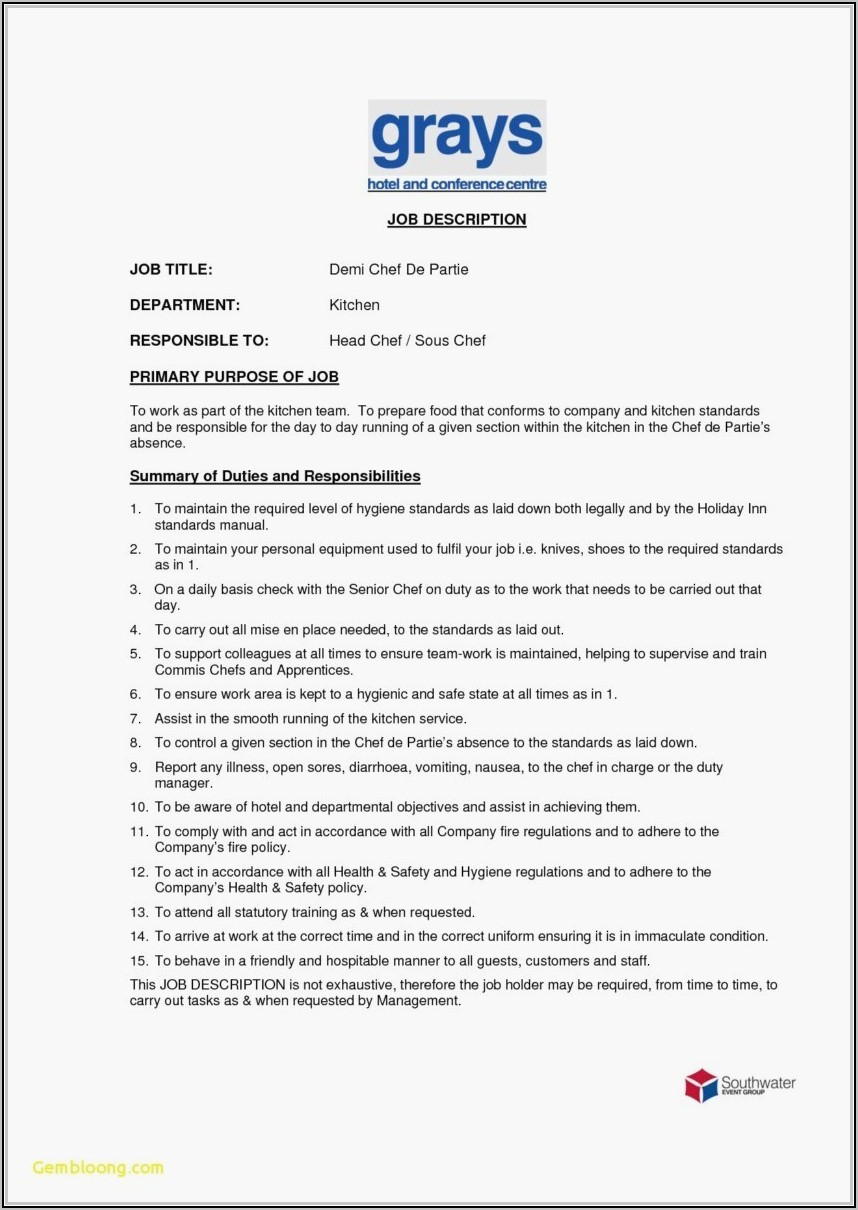 Executive Sous Chef Resume Template