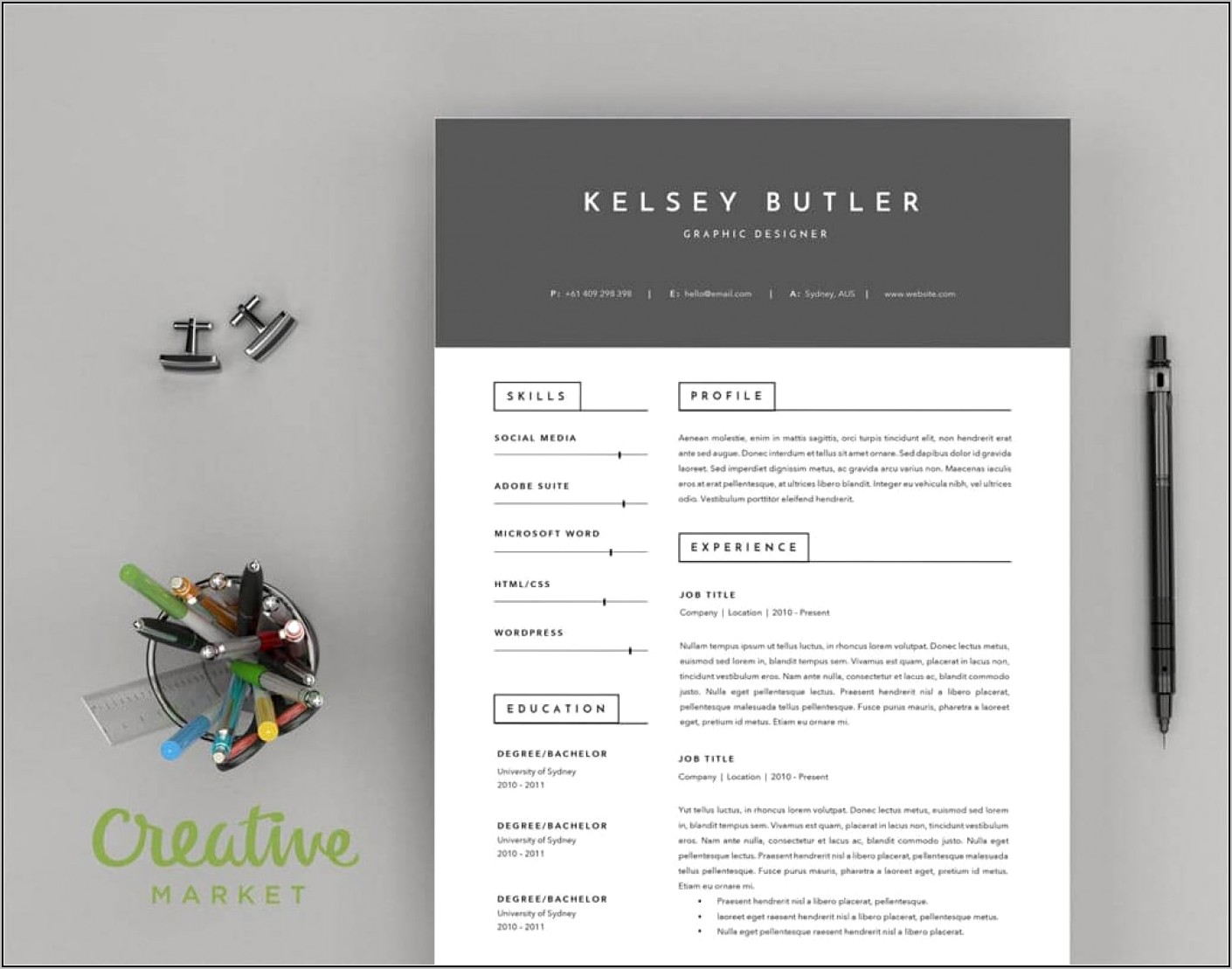 Free Creative Resume And Cover Letter Templates