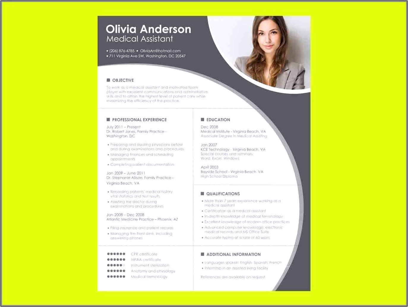 Free Download Creative Resume Templates Word