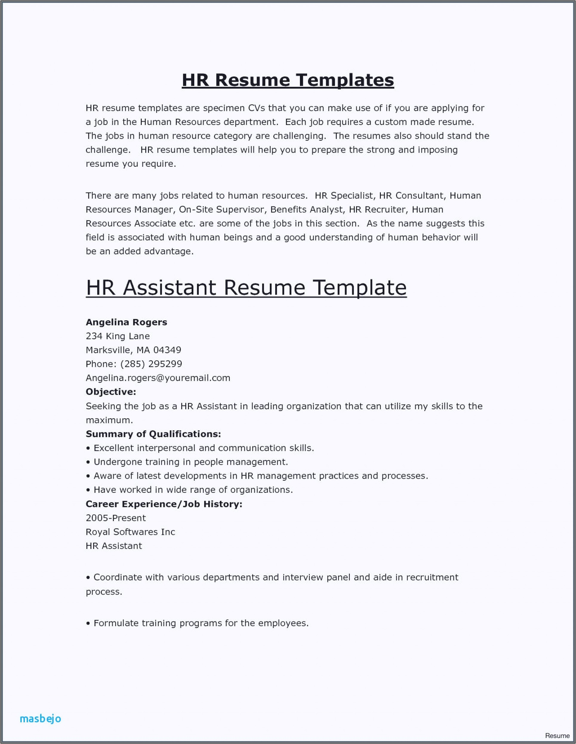 Free Hair Stylist Resume Examples