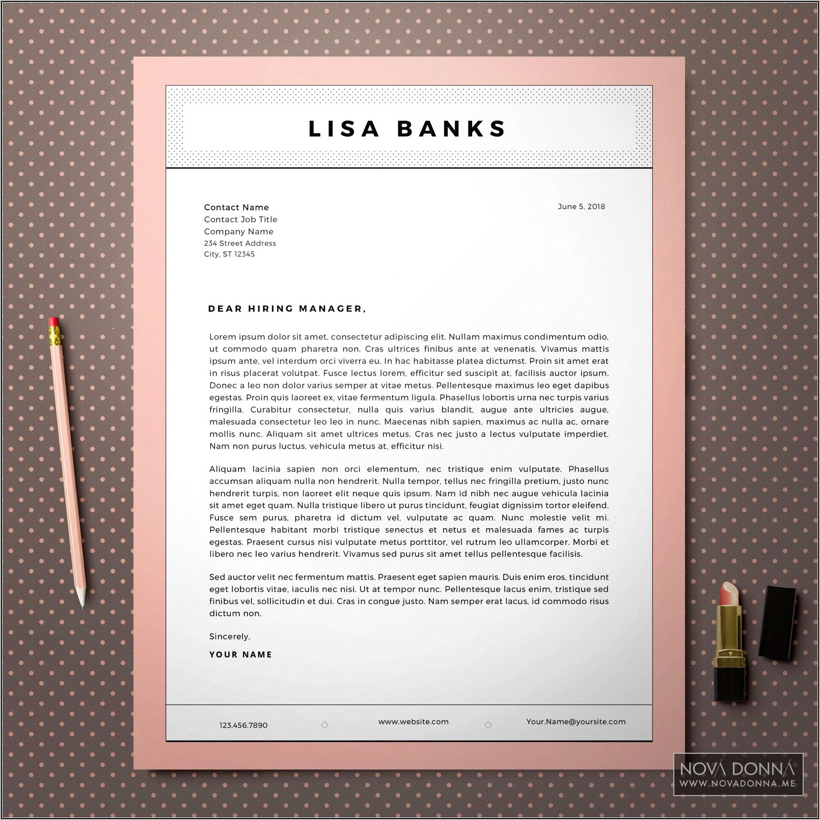 Free Modern Resume And Cover Letter Templates