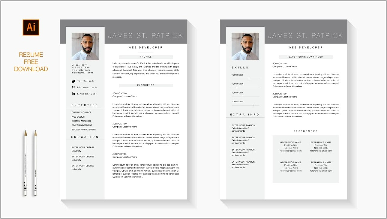 Free Resume Template Downloads Word