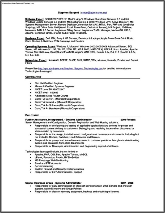 Free Resume Template For Apple Pages