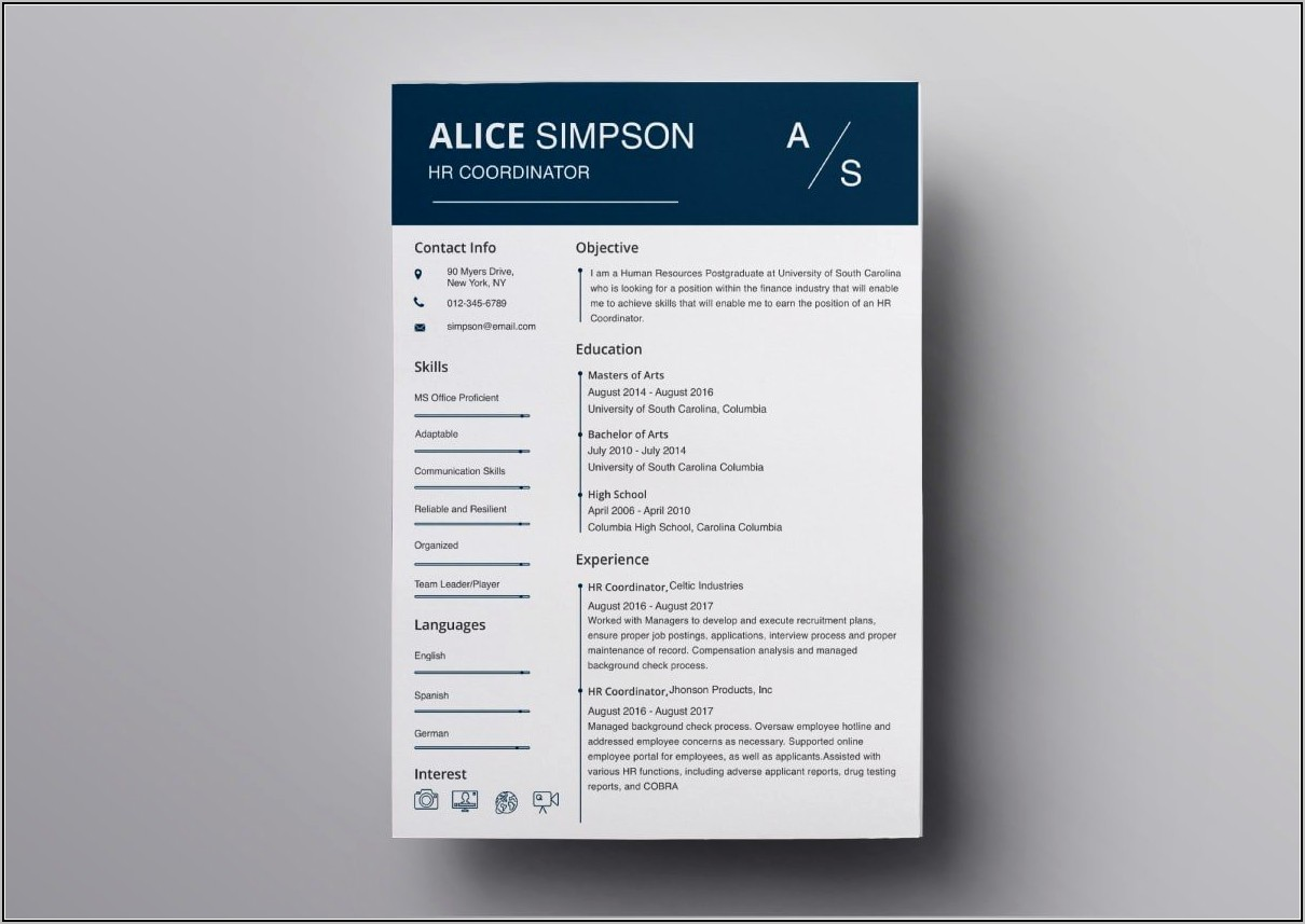 Free Resume Templates Download Pages