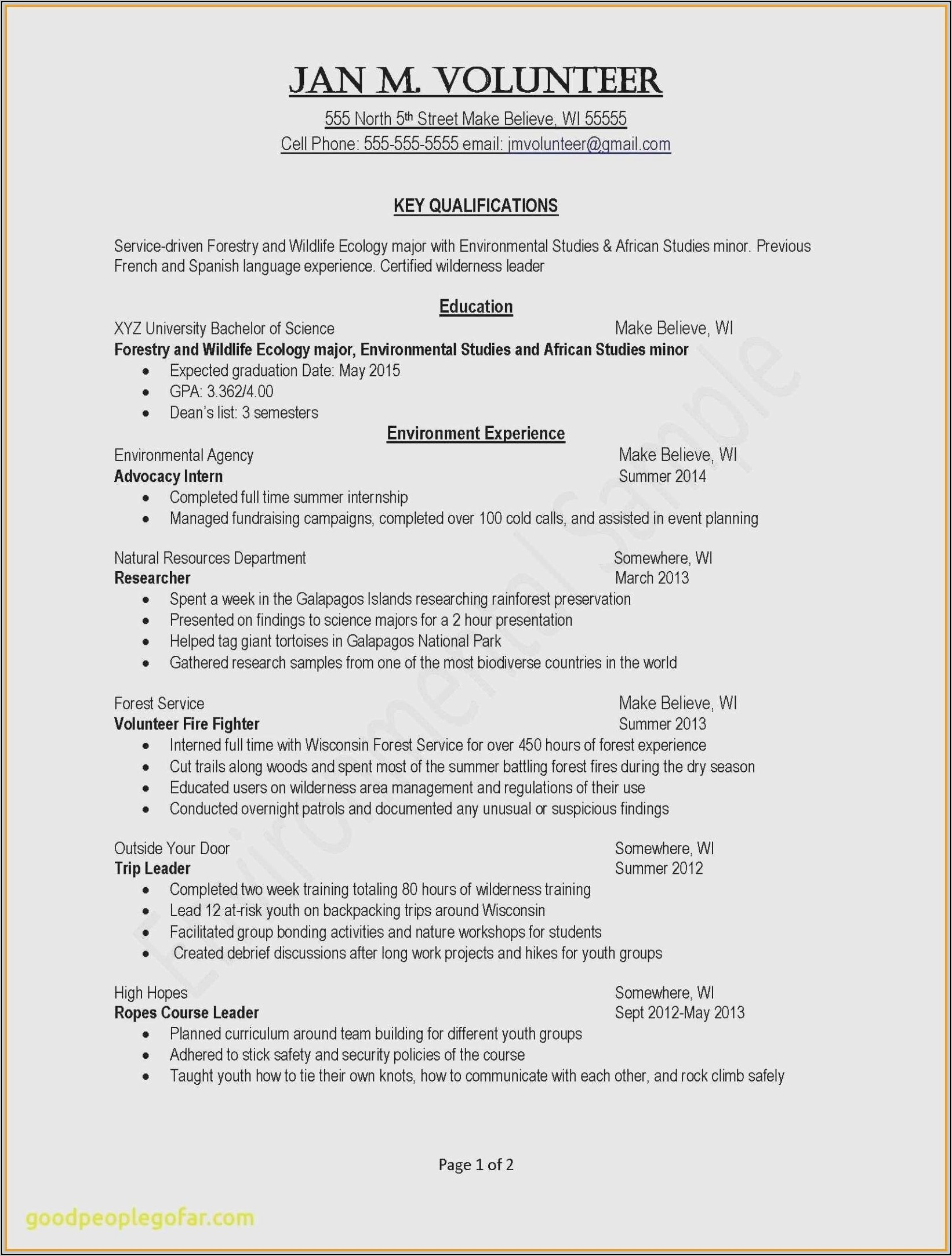 Free Resume Templates For Healthcare Workers