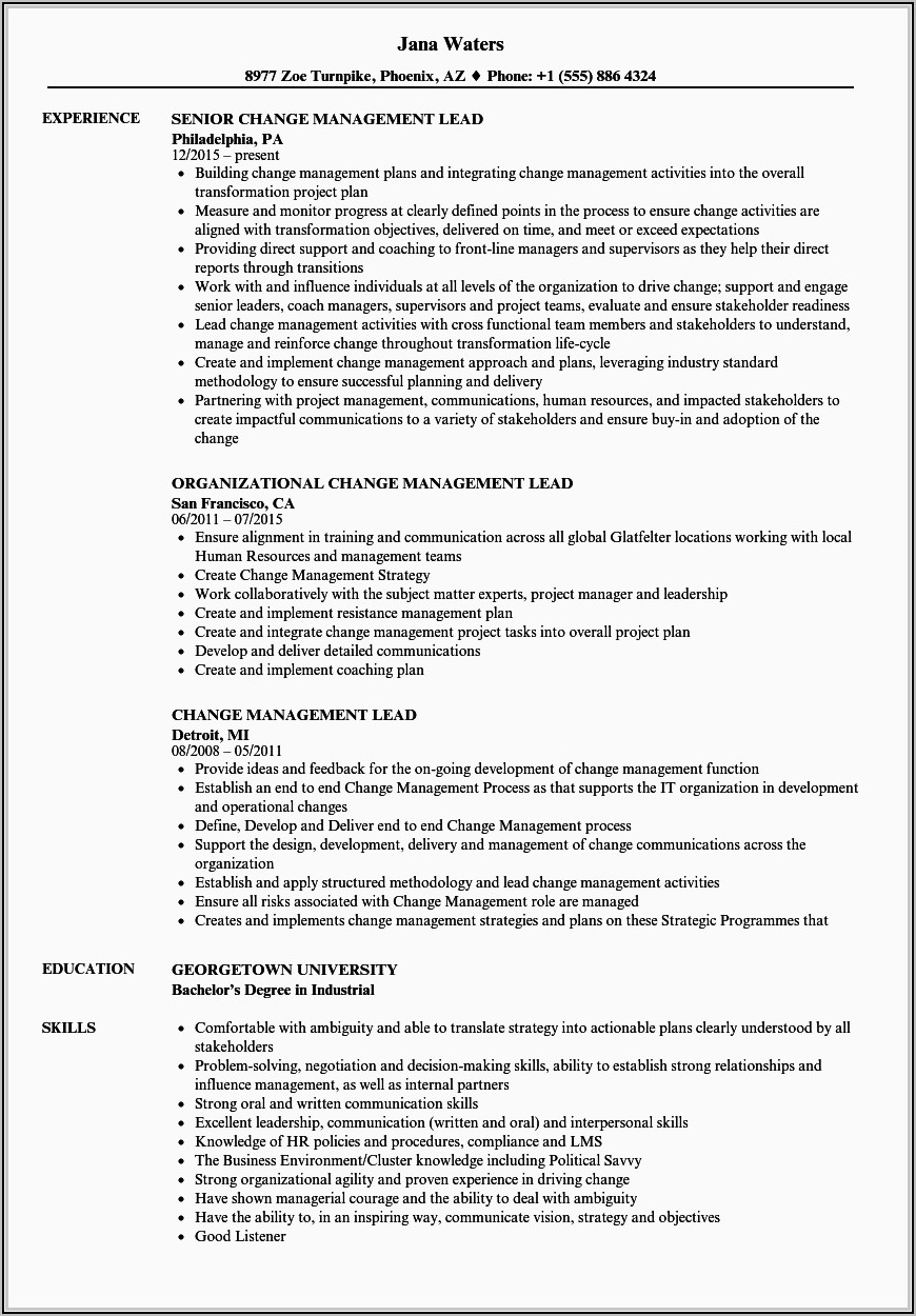 Lead Generation Resume Sample