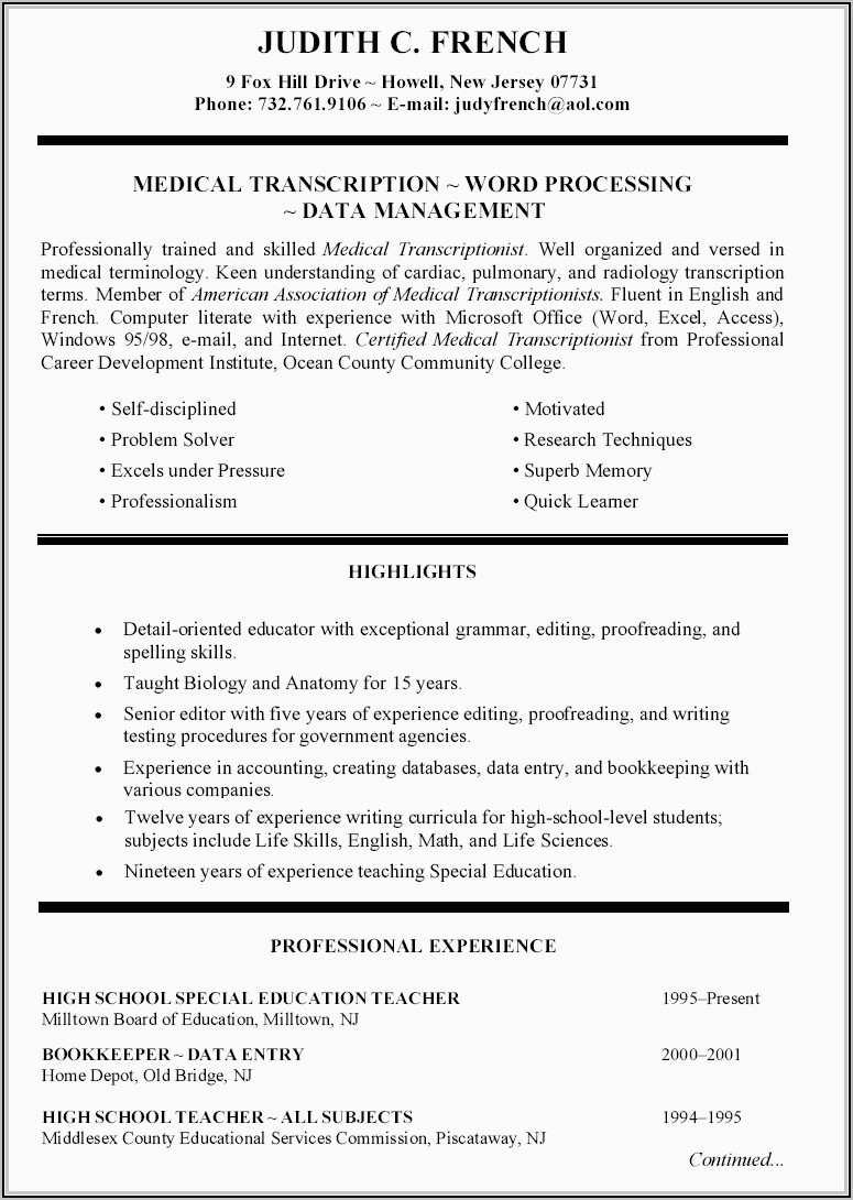 Professional Resume Writers In New York City