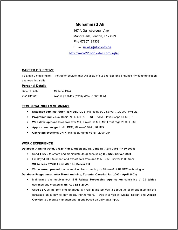 Resume Examples For Accounts Payable