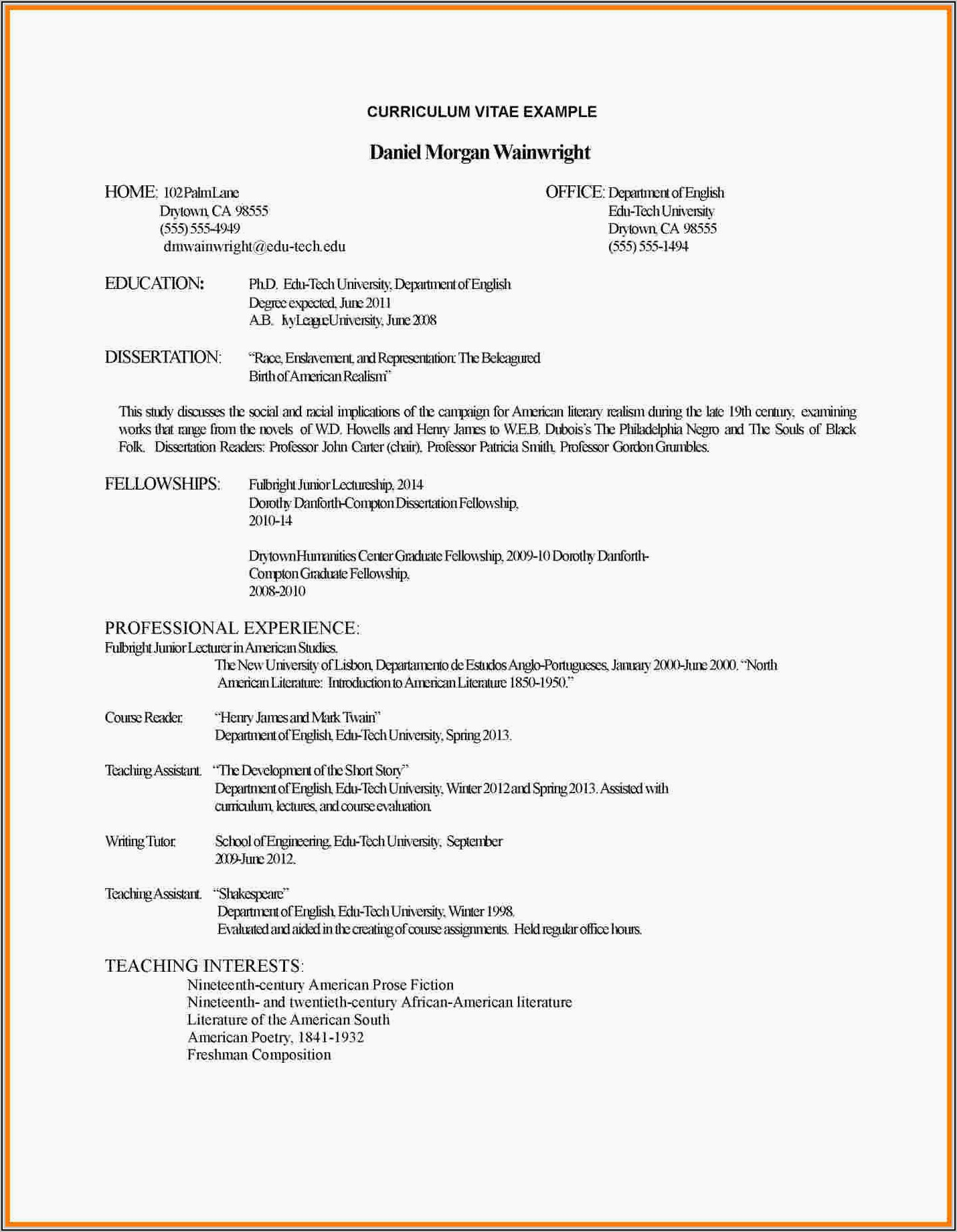 Resume For Freshers Engineers Ece