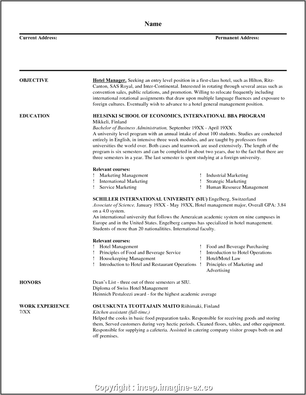 Resume For Sales Manager Post