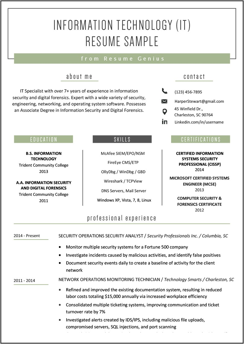 Resume For Truck Driver Example