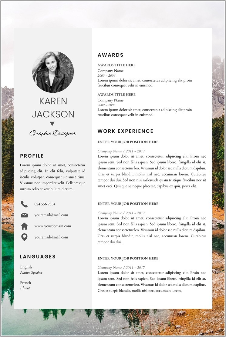 Resume Layout In Word
