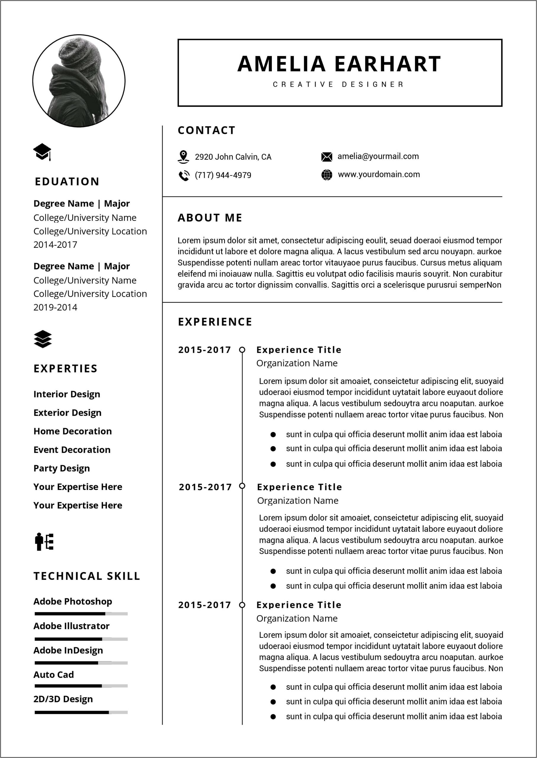 Resume Template Word Document Free Download