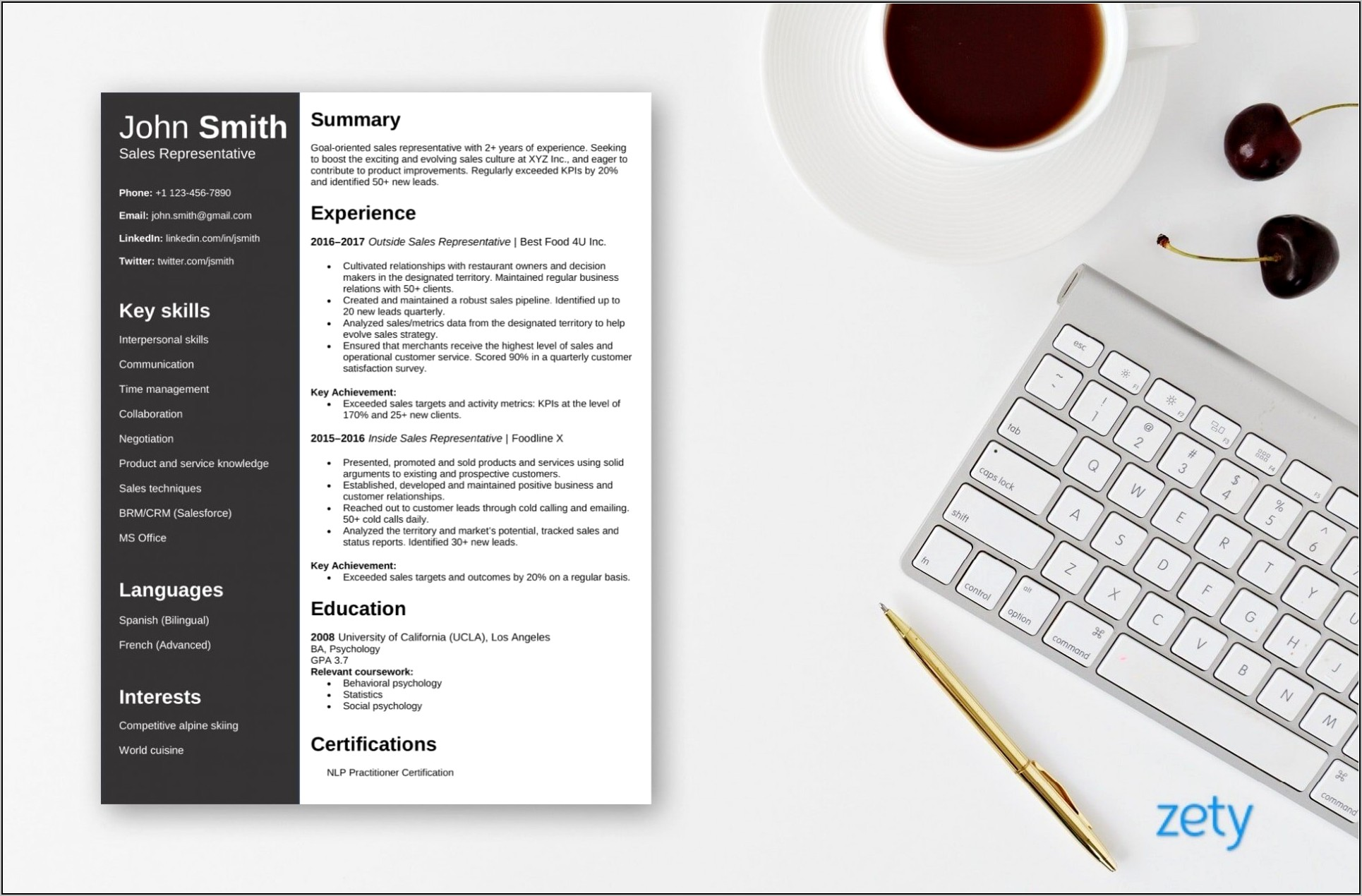 Resume Templates For Microsoft Word 2016