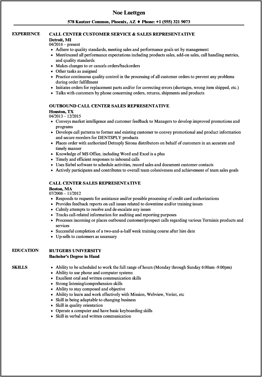 Sample Of Warehouse Manager Resume