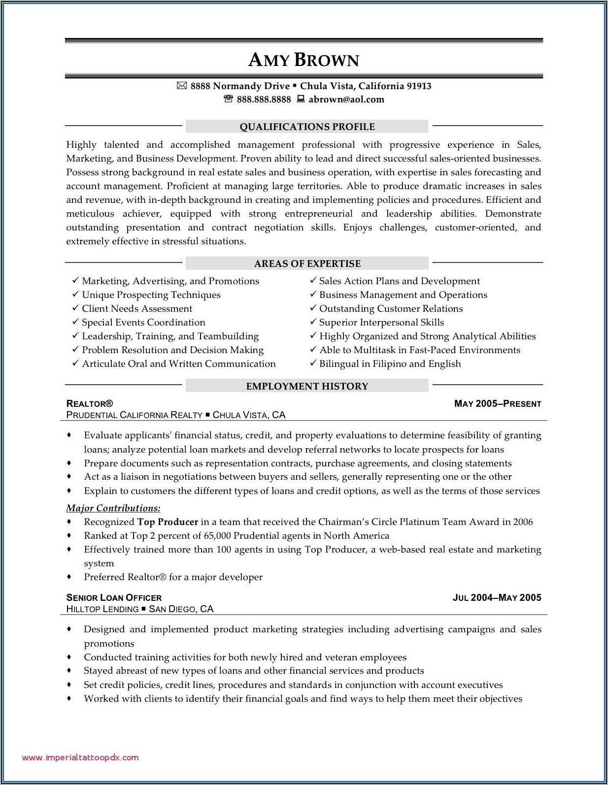 Sample Resume For Sales Manager In Telecom