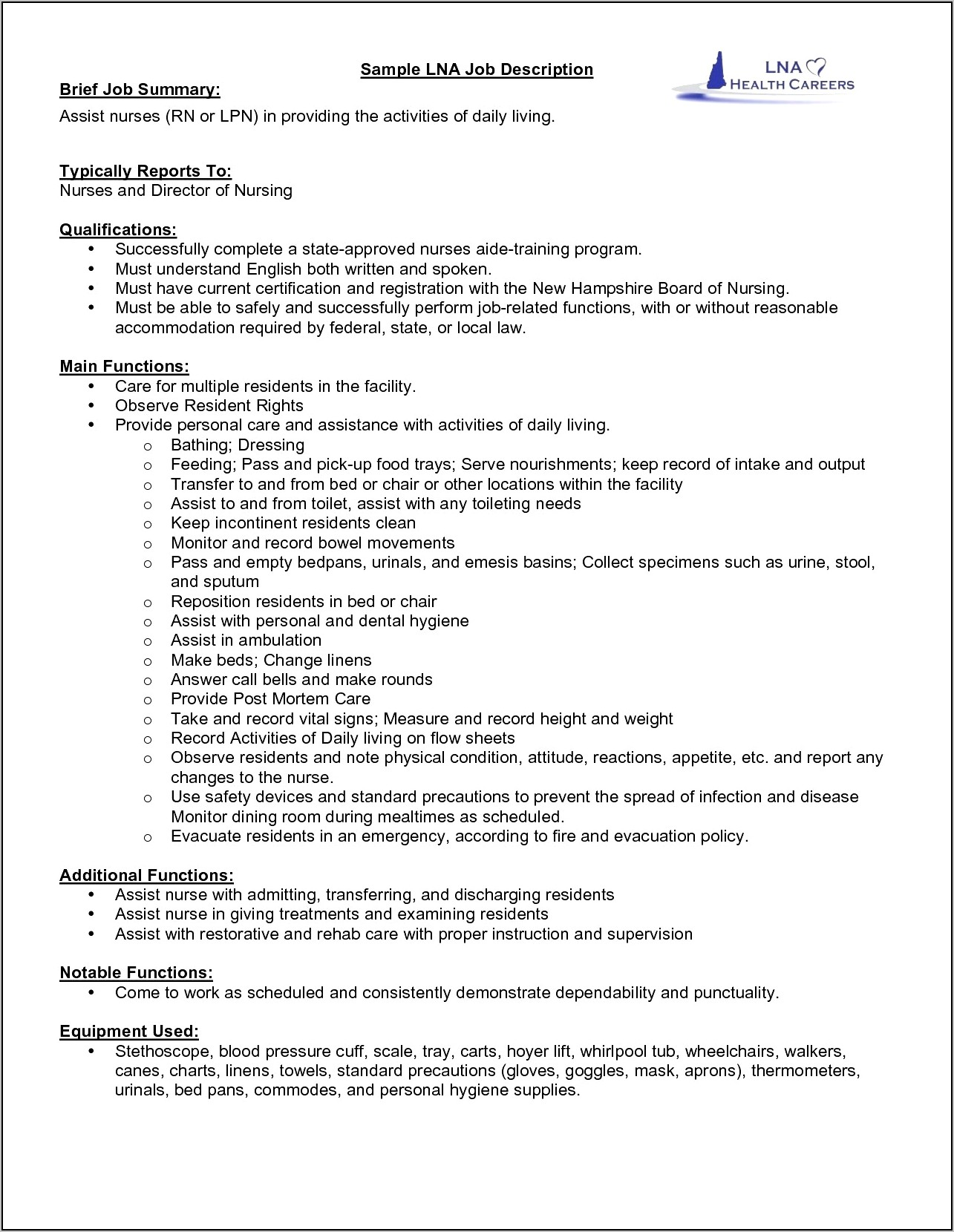 Sample Resume Lvn New Grad