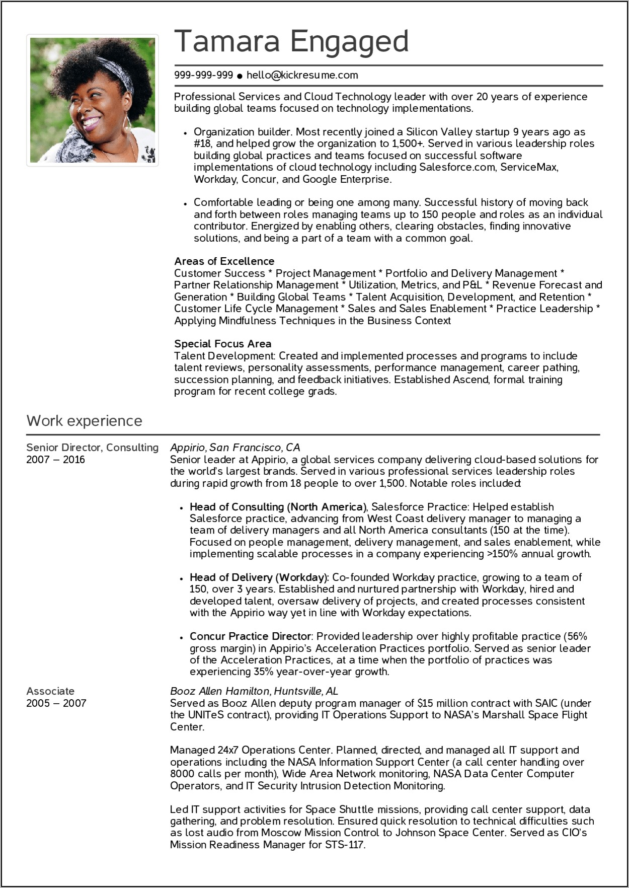 Senior Manager Resume Examples