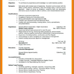 Warehouse Supervisor Resume Sample Pdf