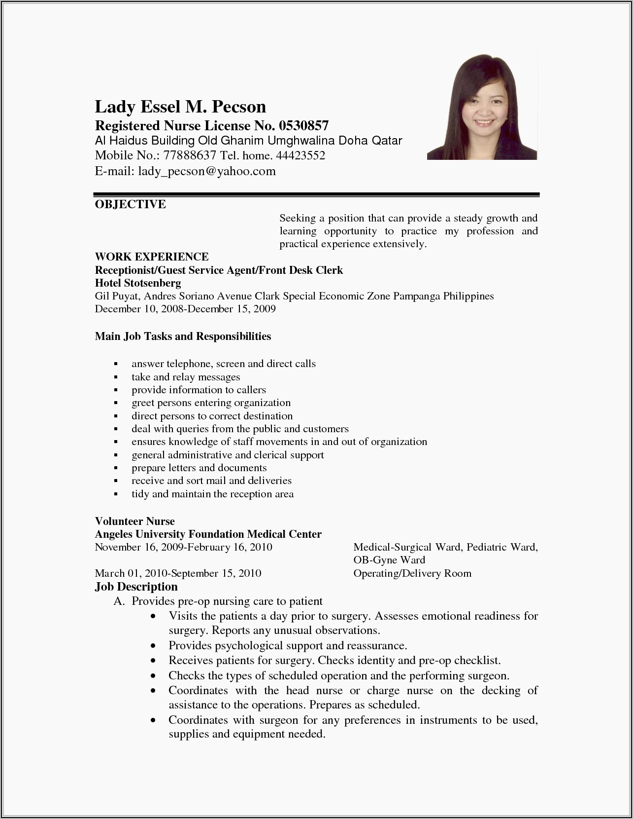 Writing The Best Resume Tips