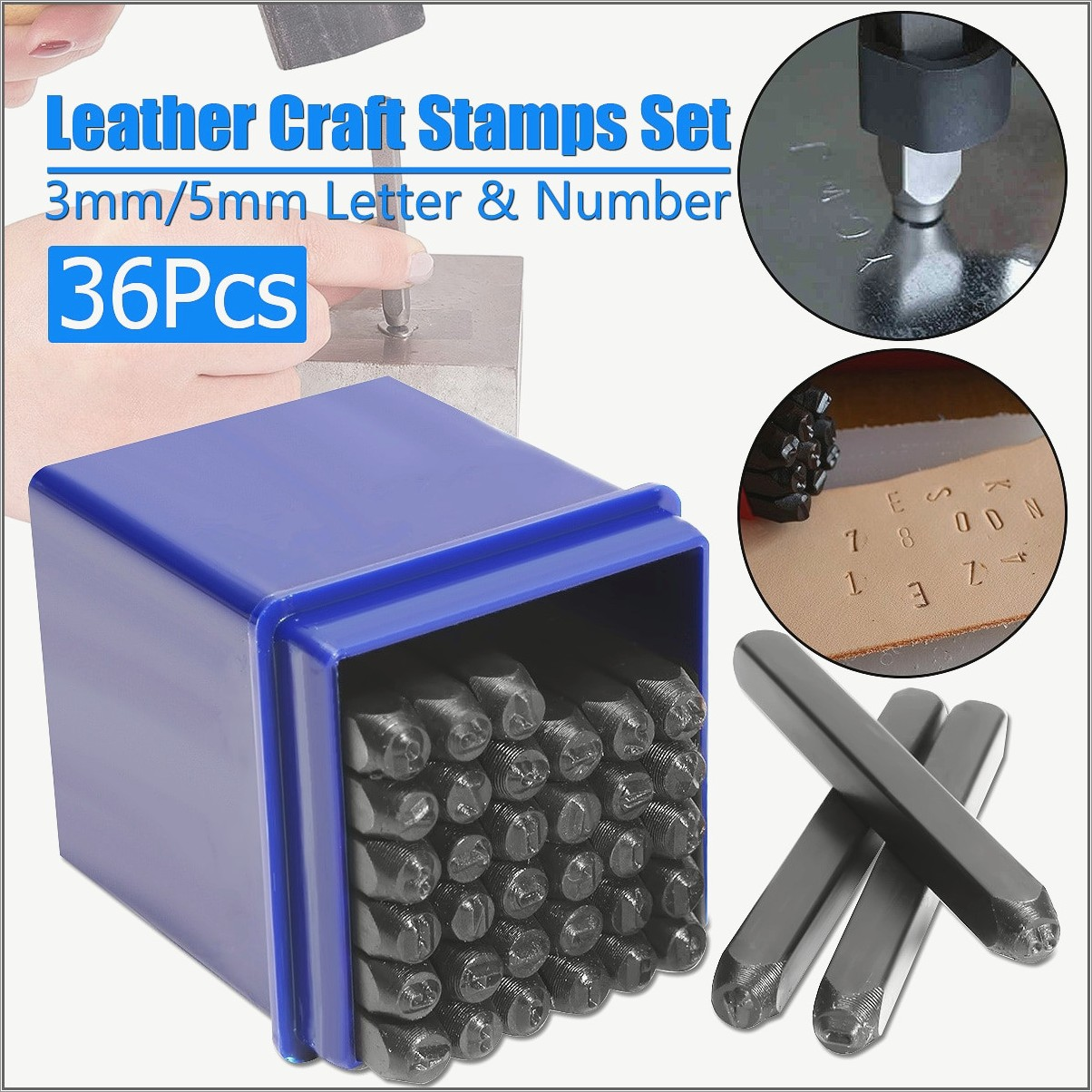 1 Inch Metal Letter Stamps