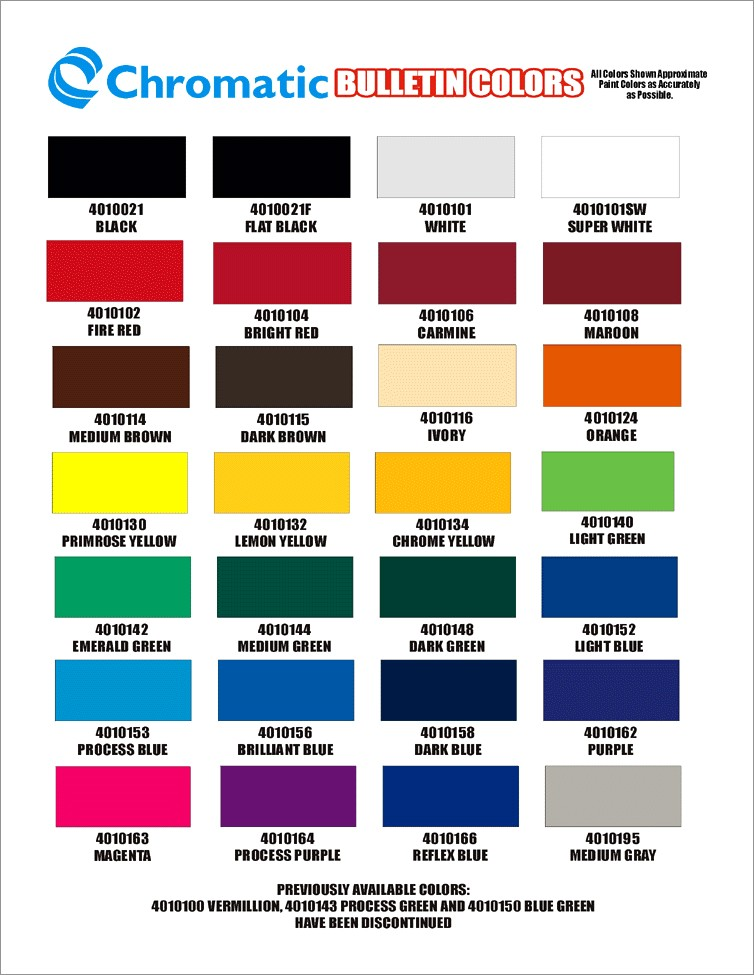 1 Shot Lettering Enamel Color Chart