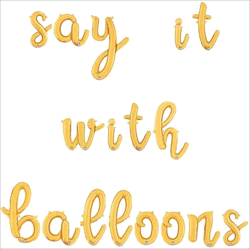 14 Inch Letter Balloons