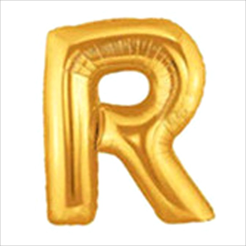 16 Inch Gold Letter Balloons