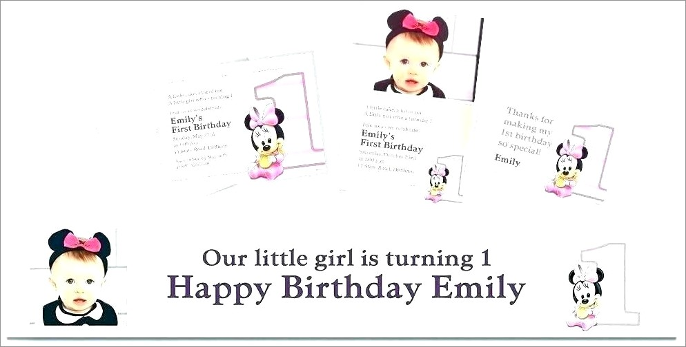 2nd Birthday Invitation Template For Girl