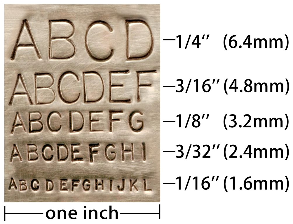 3 4 Inch Metal Letter Stamps