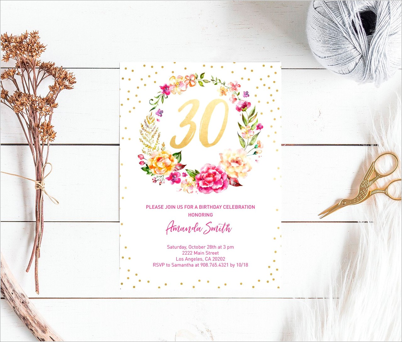 30th Birthday Invitation Wording For Her