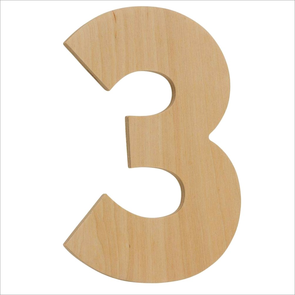 4 Inch Wooden Letters And Numbers