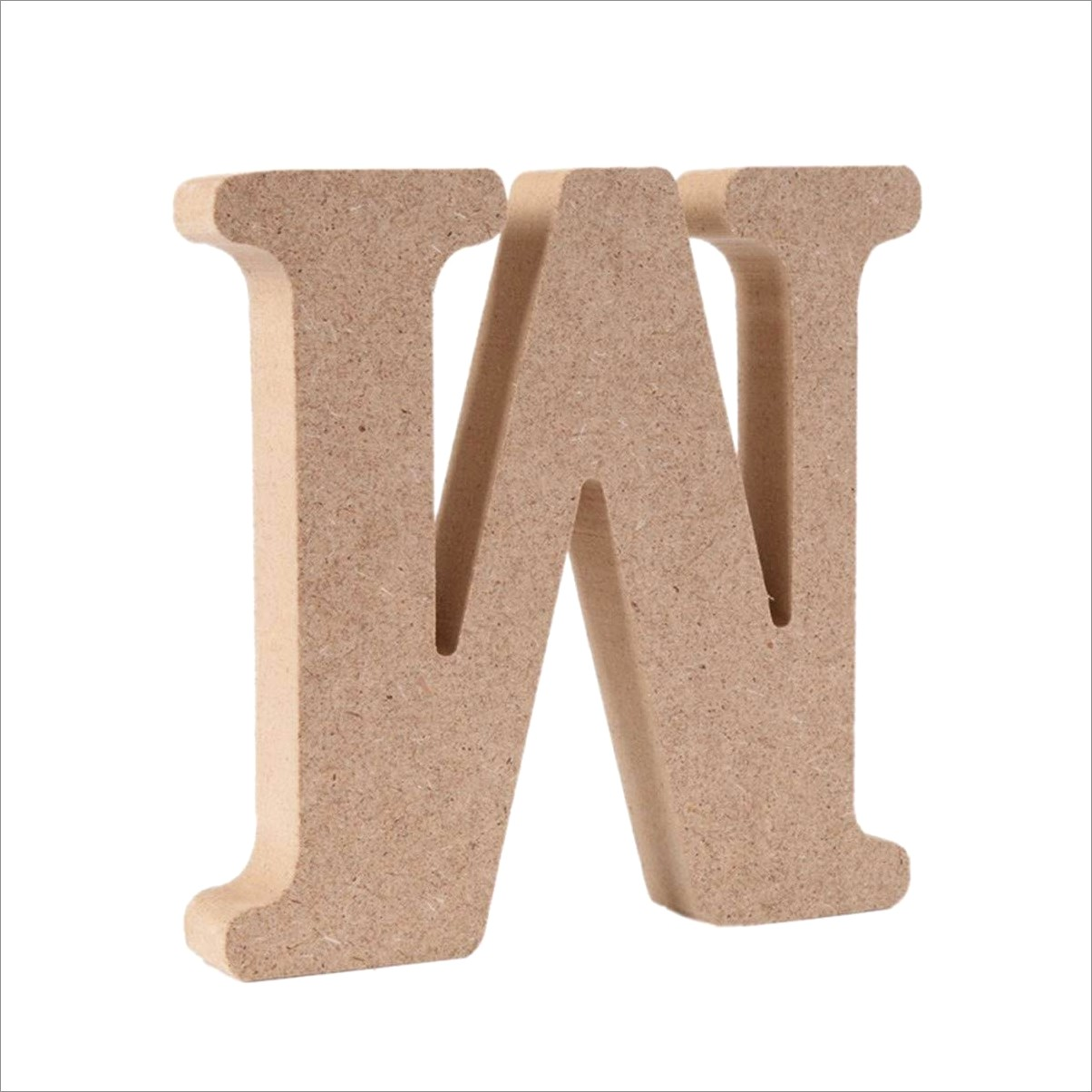 4 Inch Wooden Letters