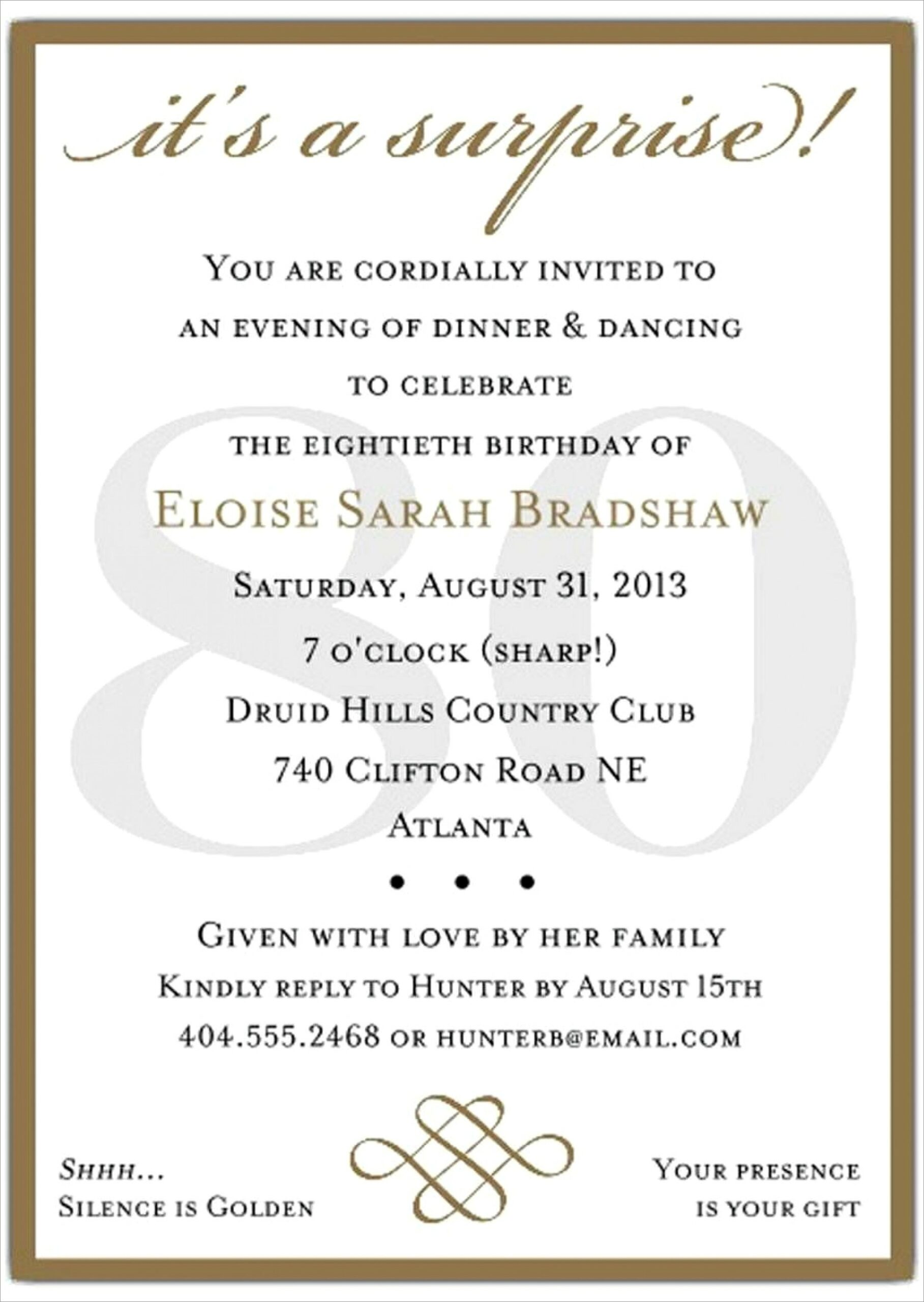 40th Birthday Invite Templates Free Scaled