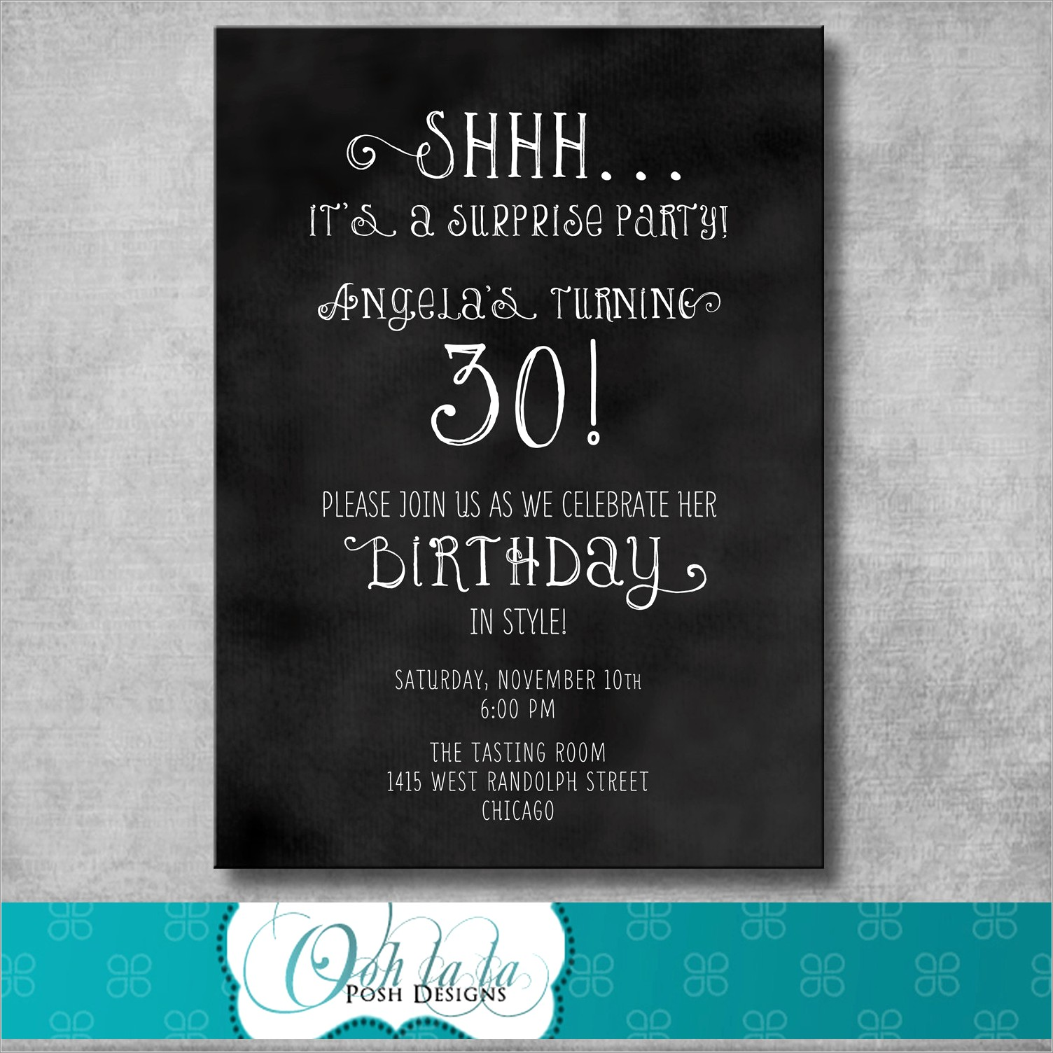 60th Surprise Birthday Invitation Wording