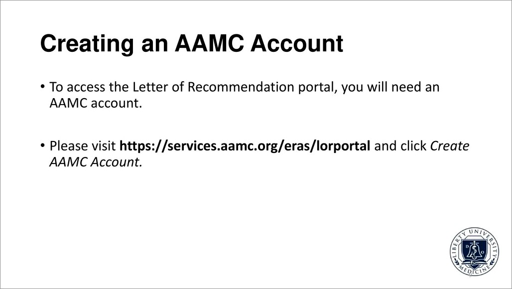 Aamc Letter Of Recommendation Portal