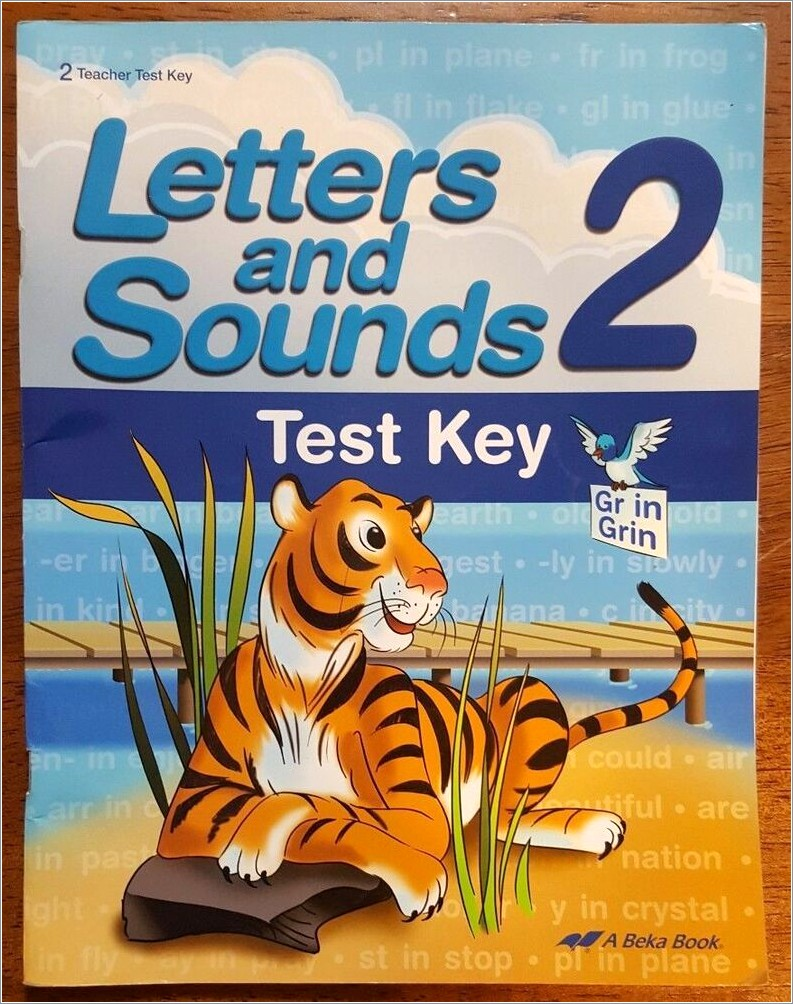 Abeka Letters And Sounds 2
