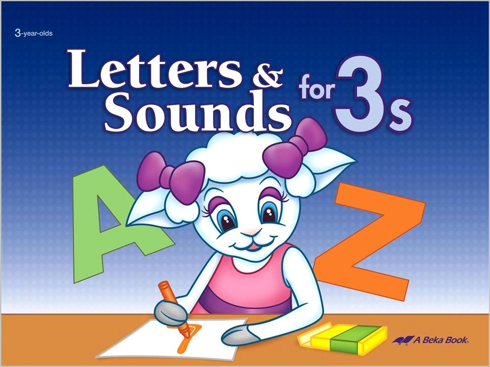 Abeka Letters And Sounds For 3s