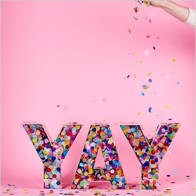 Acrylic Fillable Candy Bar Letters