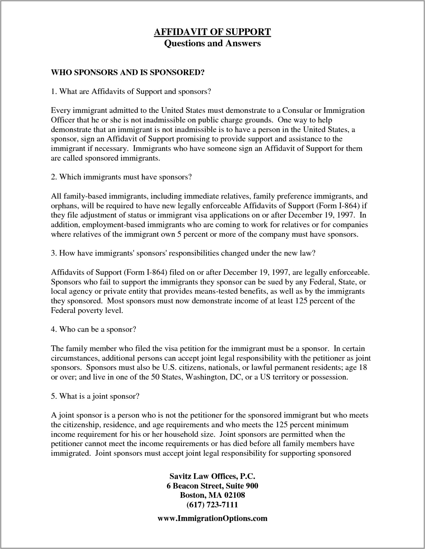 Affidavit Of Marriage For Immigration Template