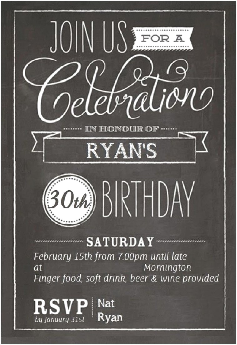 Aged To Perfection Invitation Template Free