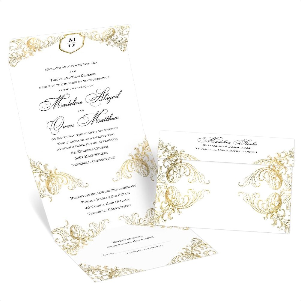 All In One Wedding Invitations Shutterfly