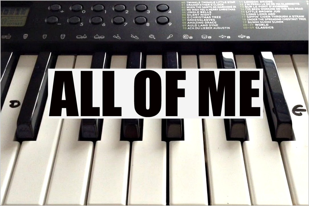 All Of Me Piano Letters Both Hands