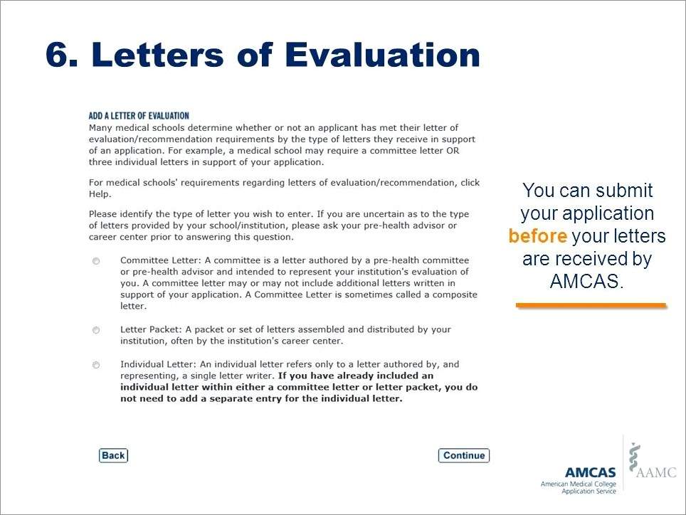 Amcas Letter Of Recommendation Guidelines