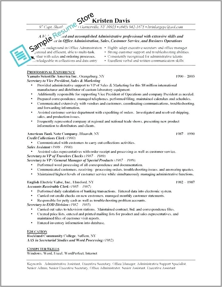 Automobile Sales Manager Resume Format